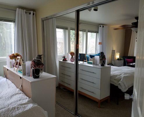 picture of studio through mirror closet doors